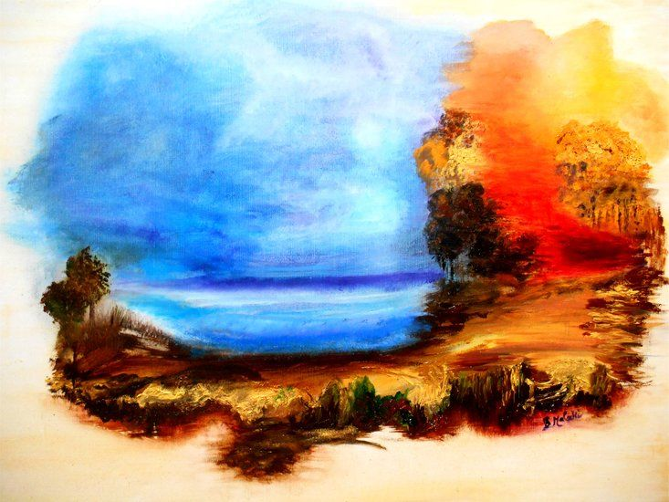 Artwork >> Bernadette Malecki >> War and Peace  #artwork, #masterpiece, #color, #bright, #painting, #nature