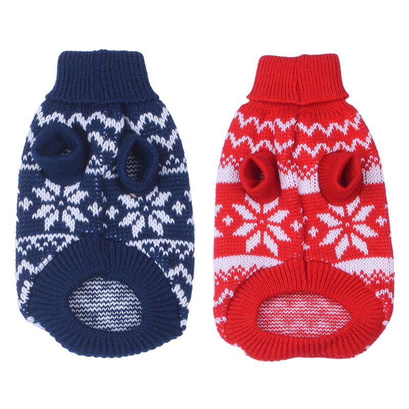 Fashion Pet Dog Cat Warm Clothes Dog Christmas Sweaters Snow Festive ...
