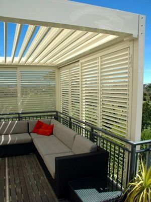 Pergolas With Louvred Side Walls Outdoor Rooms Pergola Outdoor Shutters