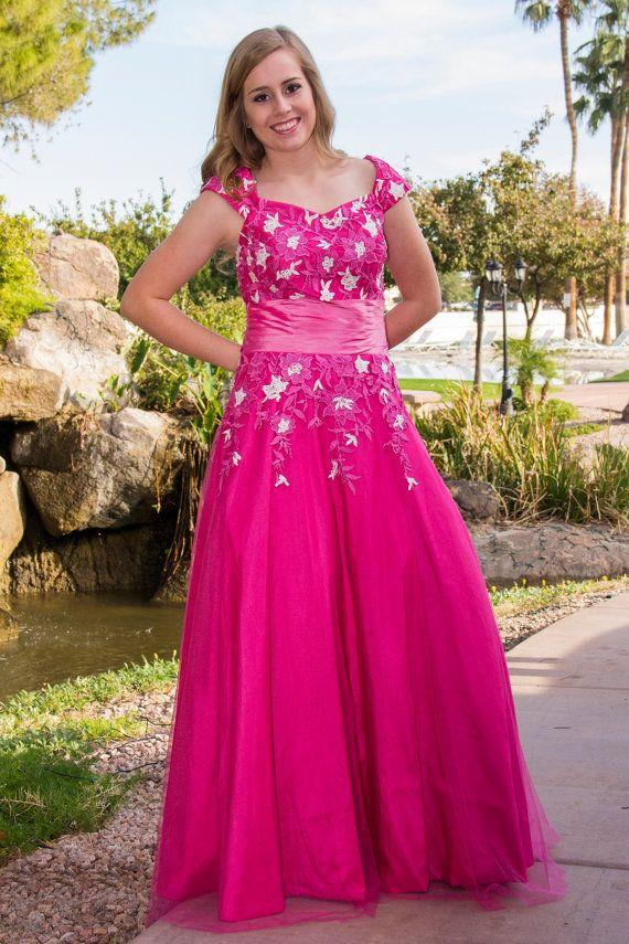Calista Lace Modest Prom Dress - Modest Prom Dress - Modest Formal ...