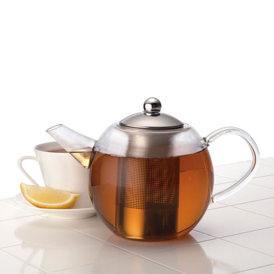 Bonjour Round Glass Teapot - Beyond the Rack (Geeky Kitchen Gadgets ...