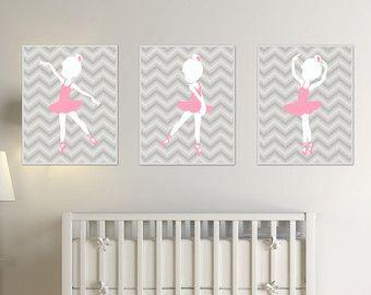 kunstdruck von baby m dchen kinderzimmer ballerina von. Black Bedroom Furniture Sets. Home Design Ideas