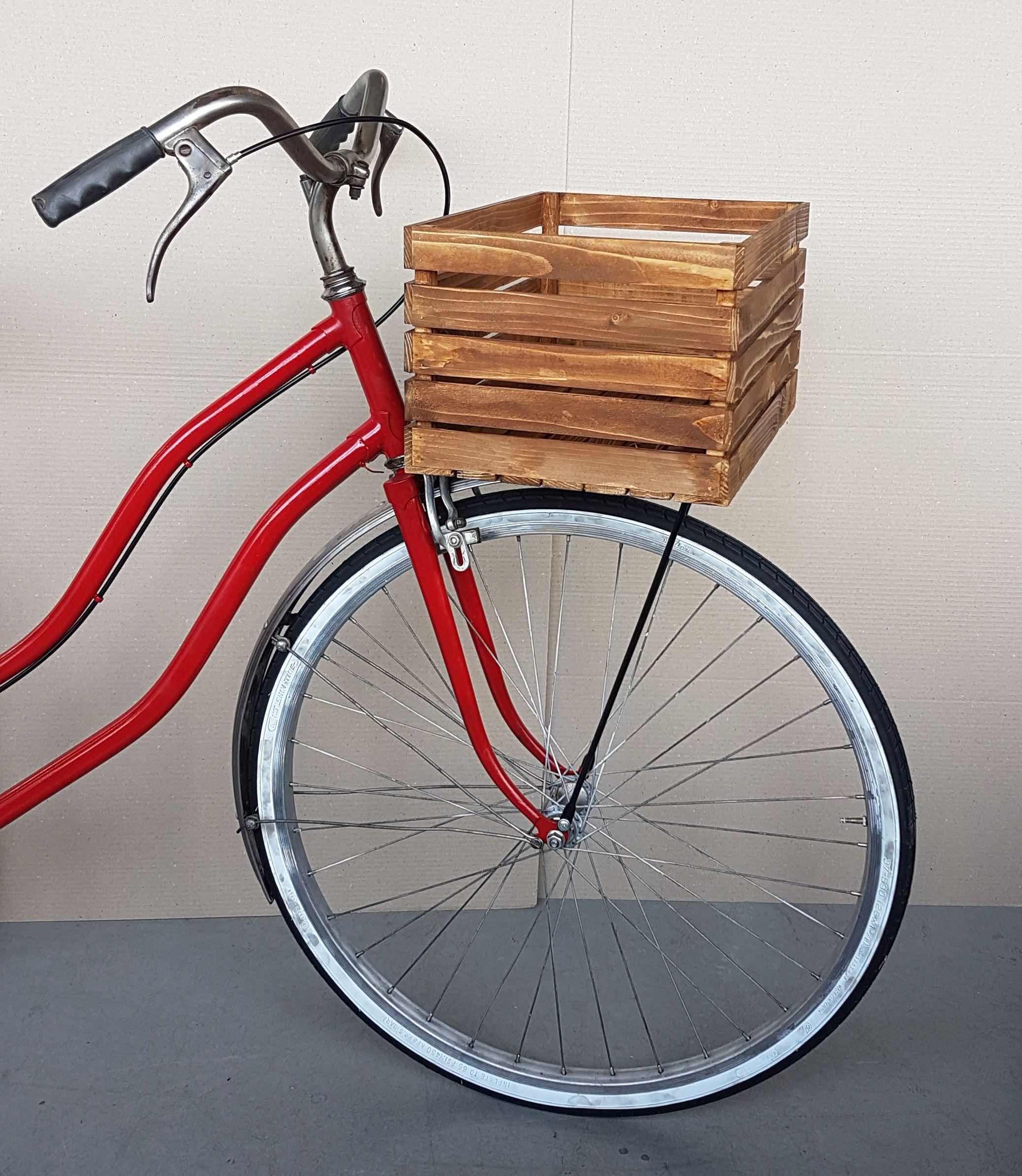 Cestino per bicicletta realizzato a mano con legno riciclato Legno riciclato Pinterest