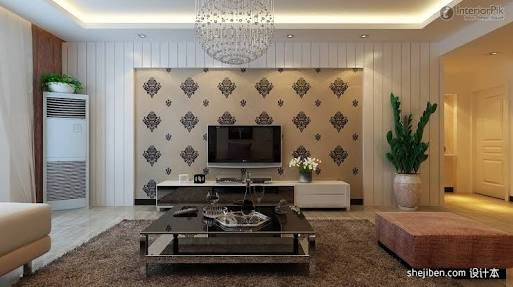 Simple Tv Panel Design For Living Room With Grey Sofa Google Search