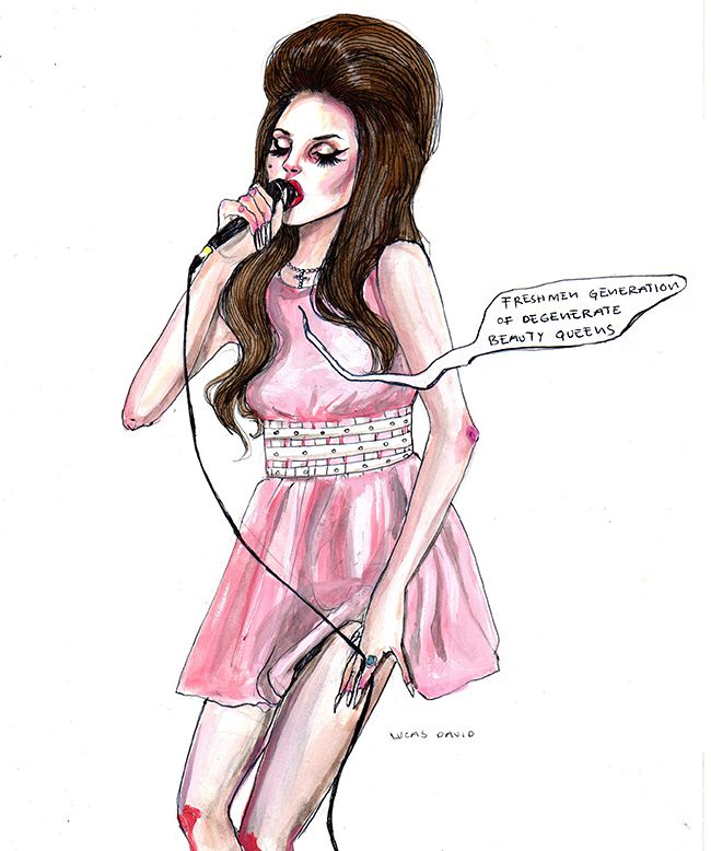 Lana Del Rey #LDR #This_Is_What_Makes_Us_Girls #art by Lucas David