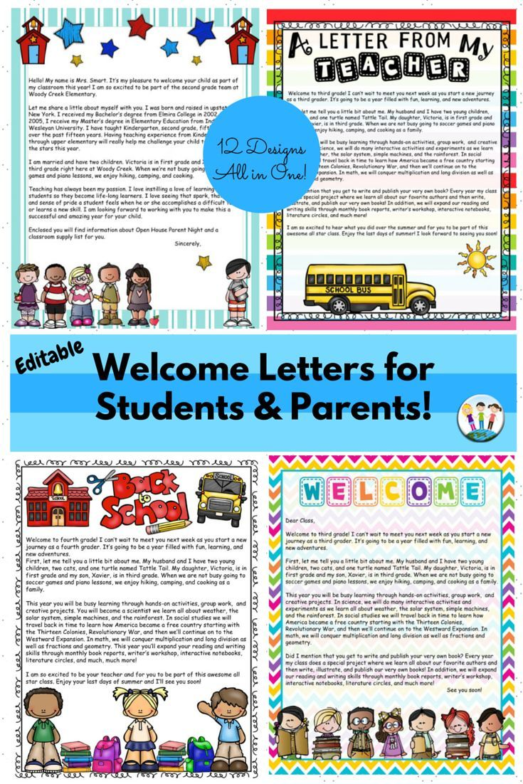 back to school letters  editable welcome letters for