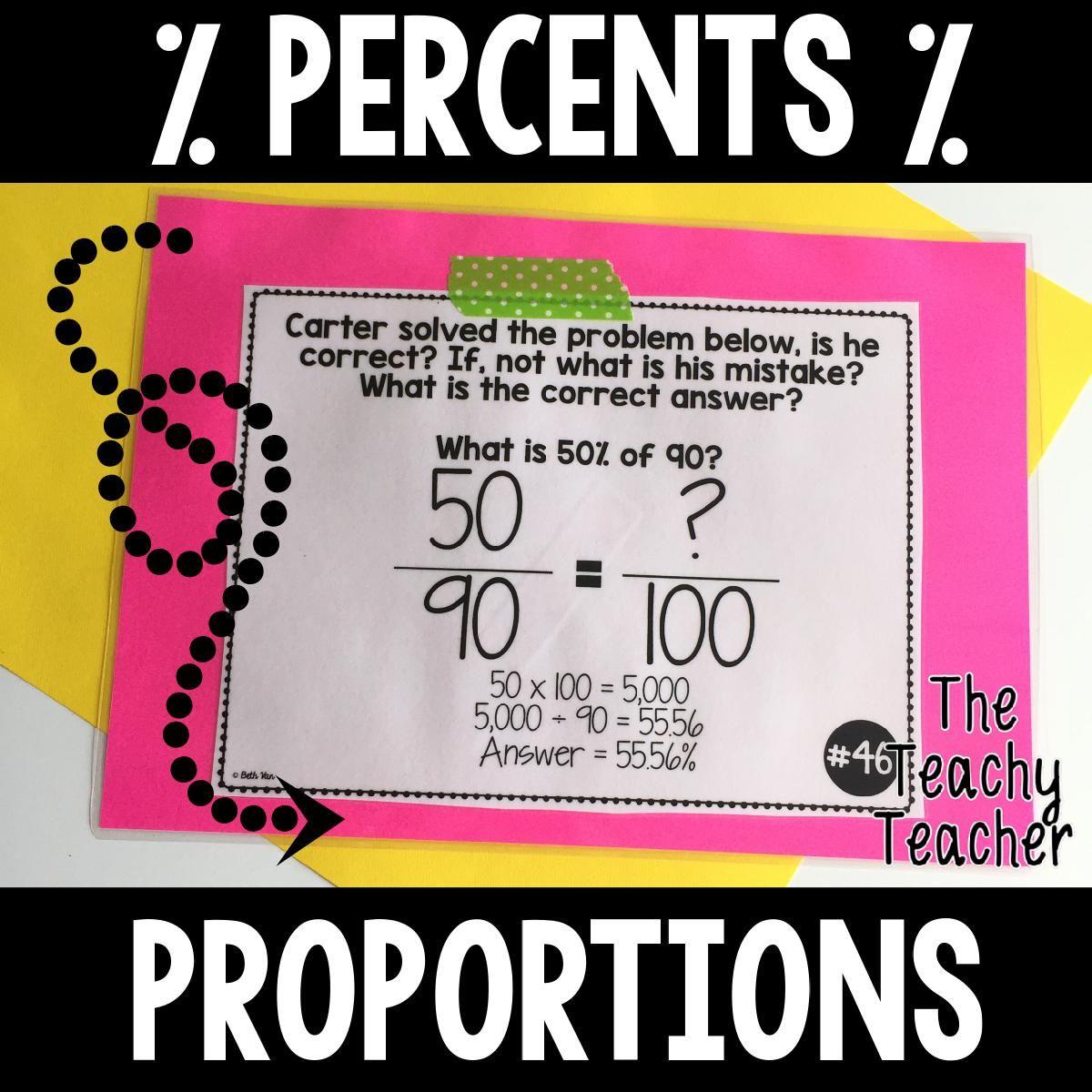 Percents Amp Proportions