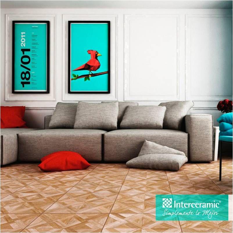 Atr vete a combinar colores inusuales en tu sala madera for Modelos de ceramica para pisos de sala
