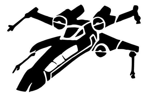 x wing pumpkin template  X wing Sticker Vinyl Decals - star wars spaceship, Car ...