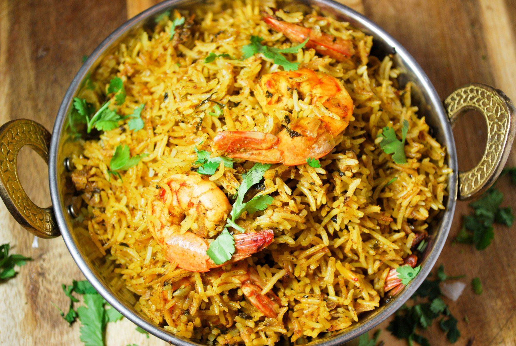 Rice cooker shrimp prawn biryani recipe biryani rice and rice rice cooker shrimp prawn biryani forumfinder Choice Image