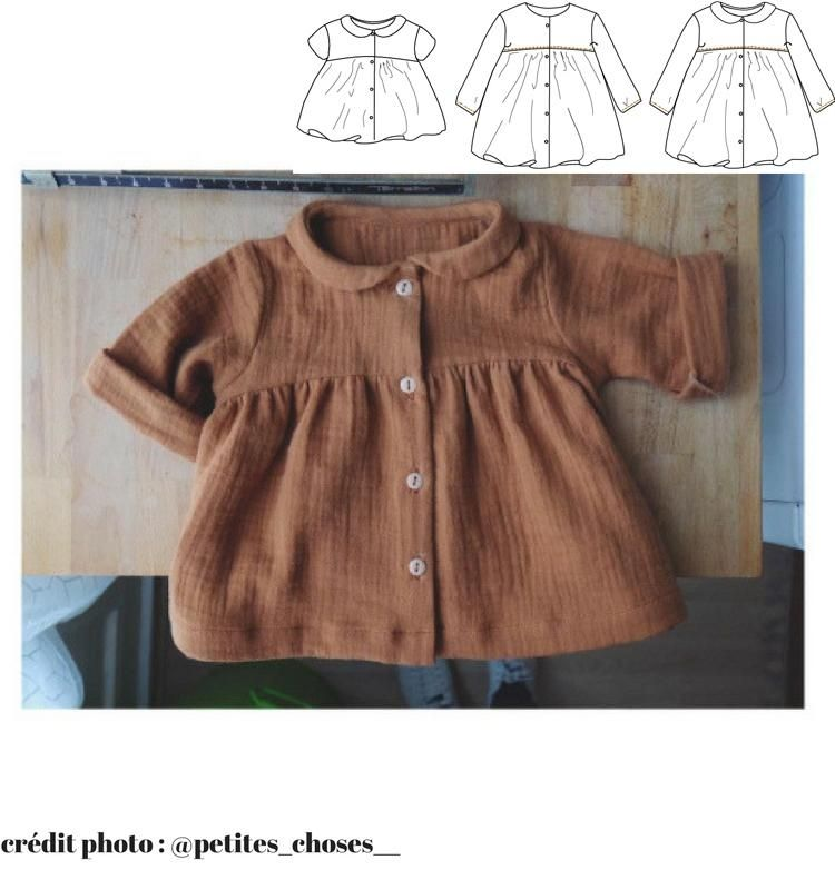 Ikatee Baby Stockholm Duo Blouse & Dress Downloadable PDF Pattern