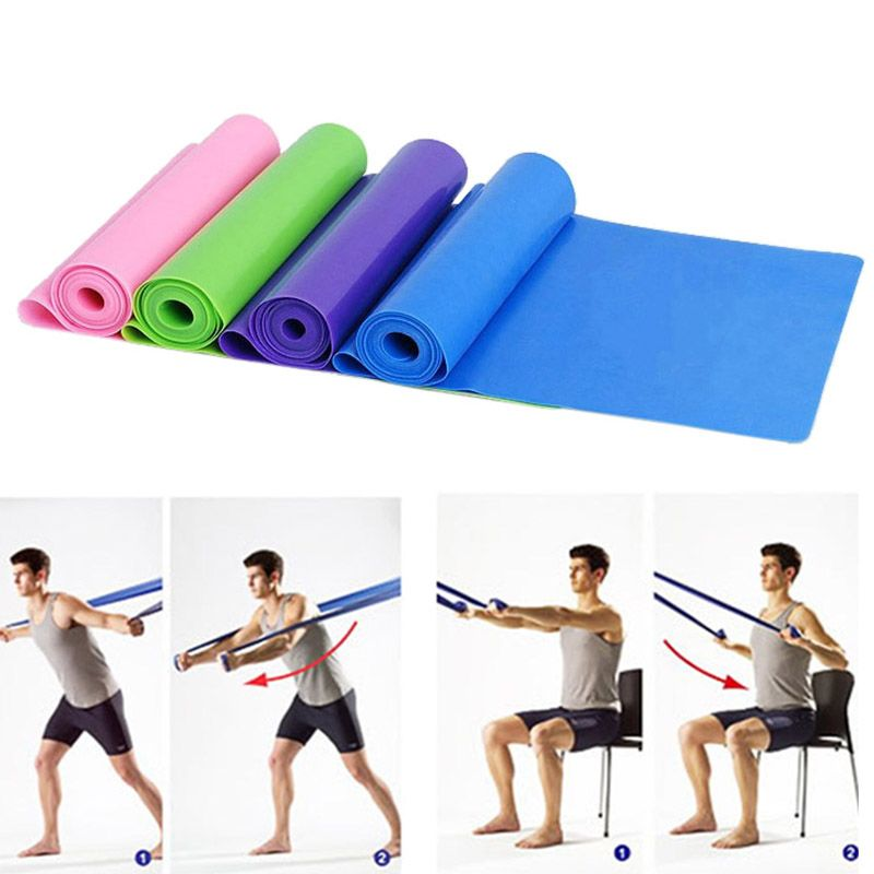 Hot Resistance Elastic Training Rubber Band Stretch Exercise Fitness Yoga Pilate