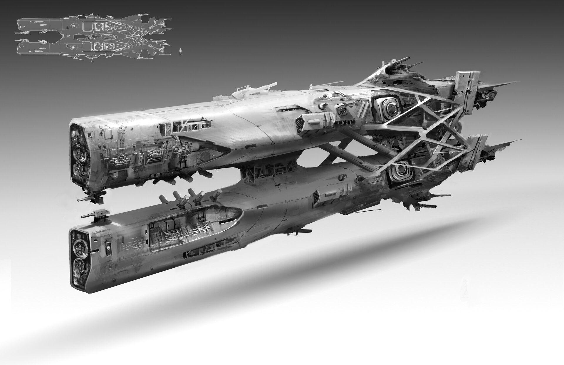 Artstation Spaceship Concept Design Chen Chen With Images