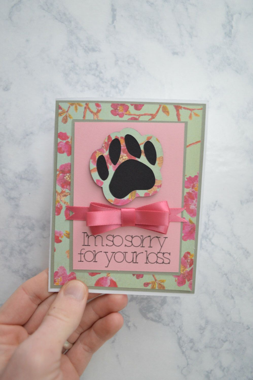 Handmade Sympathy Card - Loss of Pet by RedsFiberArts on Etsy https://www.etsy.com/listing/269379130/handmade-sympathy-card-loss-of-pet