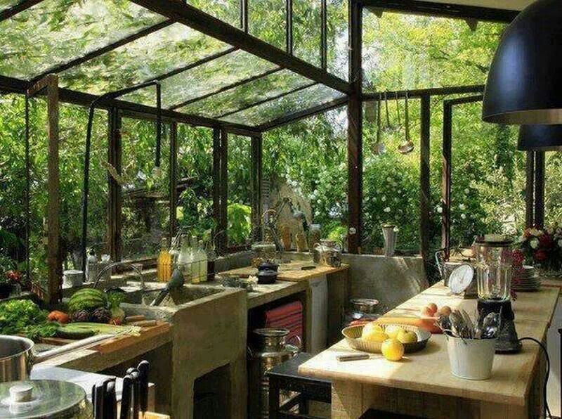 Would love this rain forest kitchen