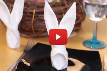diy p ques pliage de serviette en lapin origami. Black Bedroom Furniture Sets. Home Design Ideas