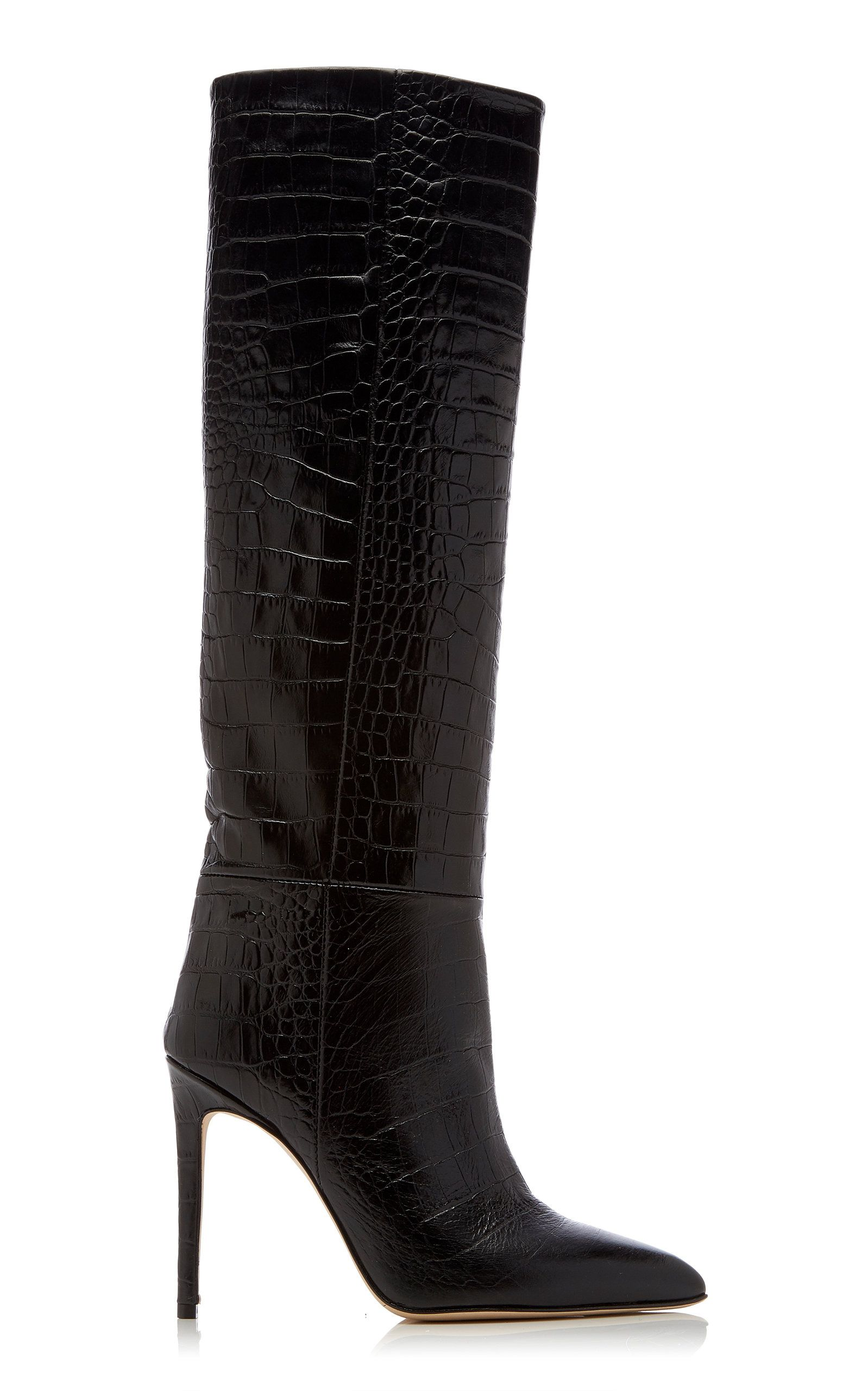 3fd972e9f Croc-Embossed Leather Knee Boots by PARIS TEXAS Now Available on Moda  Operandi