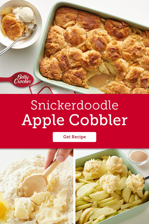 Snickerdoodle Apple Cobbler Recipe Betty Crocker Recipes Apple Cobbler Apple Recipes