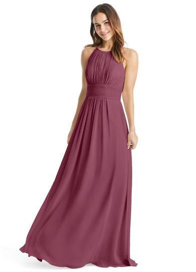 f8807e212170c Bonnie is a floor-length chiffon bridesmaid dress in an A-line cut. # Bridesmaid #Wedding #CustomDresses #AZAZIE