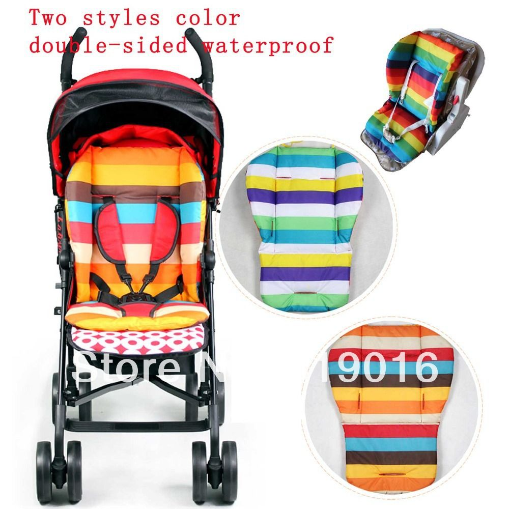 High Quality Baby Stroller Cotton Pad Cushion Waterproof Thicken Pram Mat Liner