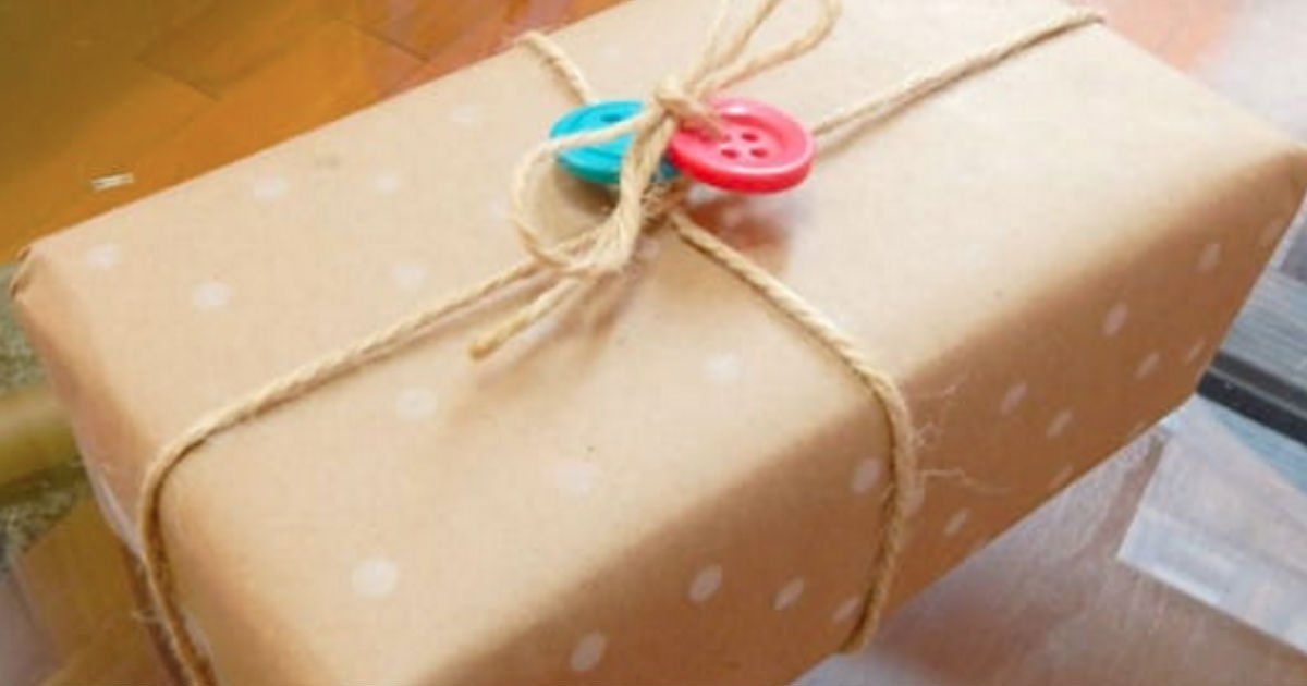 DIY Wrapping paper with a pencil eraser!