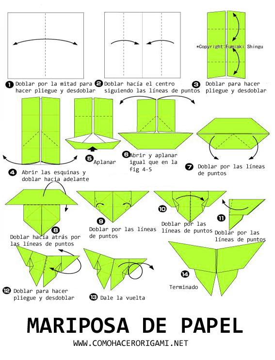 Mariposa de papel paso a paso origamy pinterest - Papiroflexia paso a paso ...