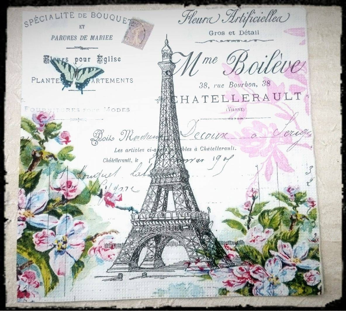 33 x 33cm 4 Individual Napkins for Craft and Napkin Art. 3-ply 4 Paper Napkins for Decoupage Autumn Gardening