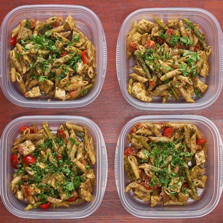 Meal Prep Pesto Chicken Pasta RecipesLunch