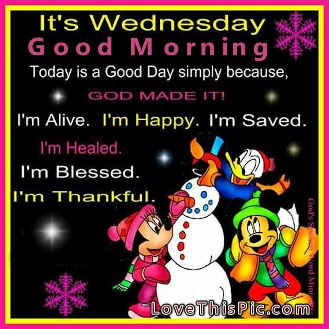 Disney Quotes For Christmas Cards: Good Morning Wednesday Winter Disney Quote Wednesday