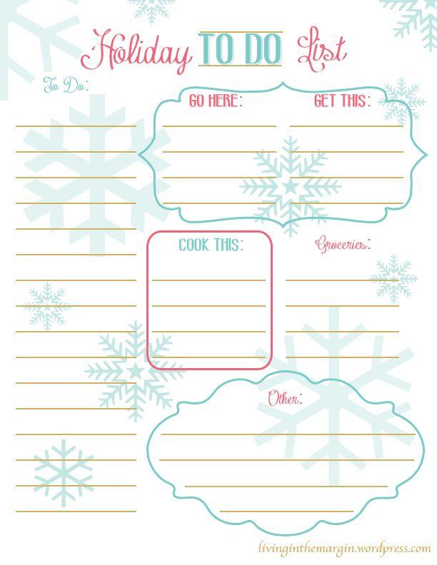 christmas to do list free printable