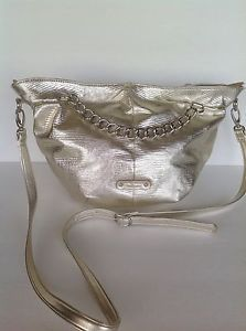Nine West Crossbody Bag Ourse Gold Big Chains Designer Hip Fashion Modern   eBay