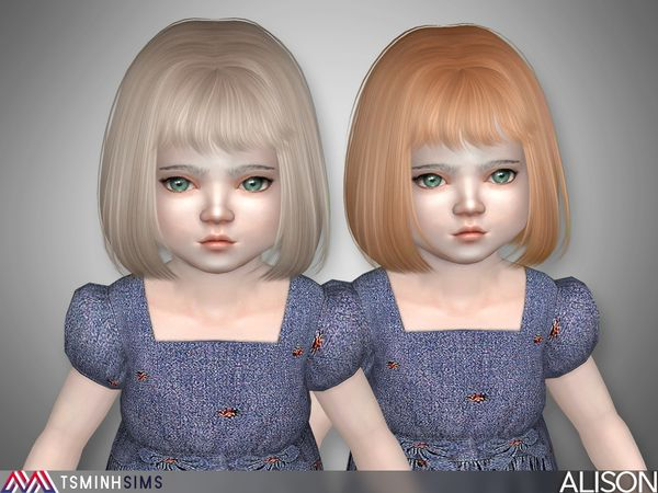 Fryzury Dziecięce Dla The Sims 4 Sims Sims 4 The Sims 4