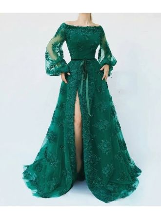 günstige abendkleider lang mit Ärmel  abendkleid grünabendkleiderkleider für besondere