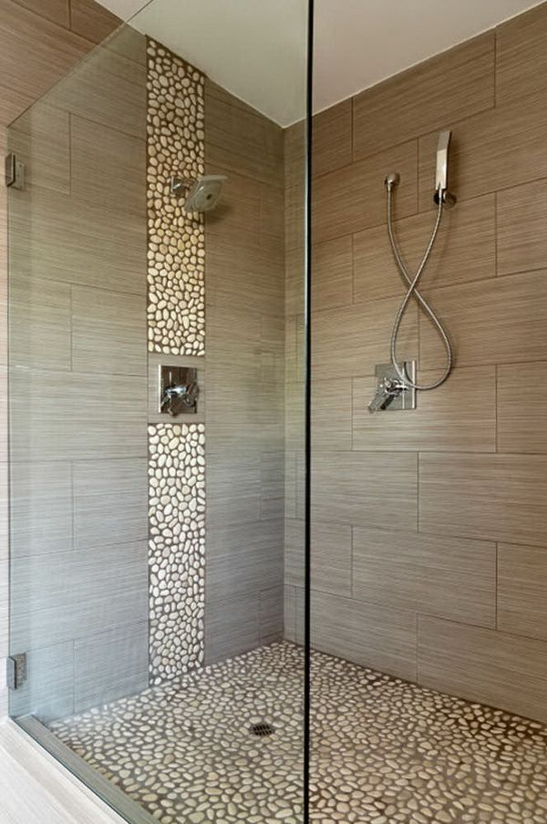 Luxury Bathrooms Showers stone floor & accent stripe | for the home | pinterest | stone