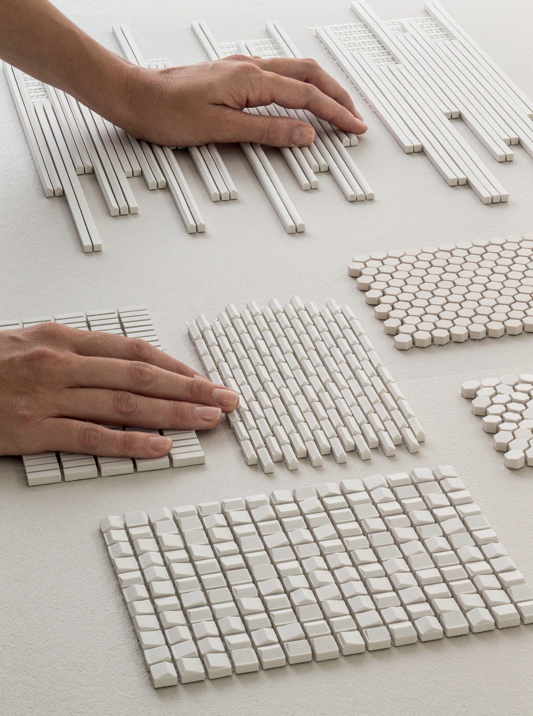 Mosaico de gres porcel nico phenomenon air bianco by mutina dise o tokujin yoshioka texture - Korbmacher fliesen ...