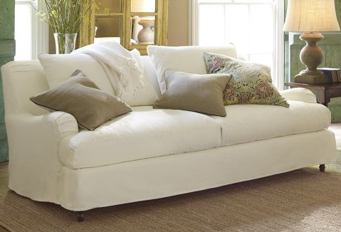 Small Sectional Sofa Different Dog A Simply Beautiful Life Pottery Barn Carlisle Slipcovered Sofa In White