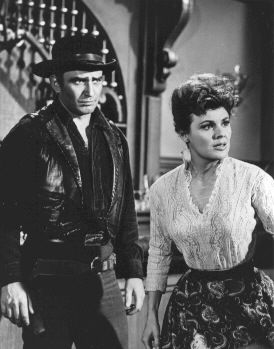 Farewell to Honesty S3Ep27 - The Virginian runs into an old friend,  Jennifer McLeod (Kathleen Crowley) a saloon owner in…   The virginian,  James drury, Doug mcclure