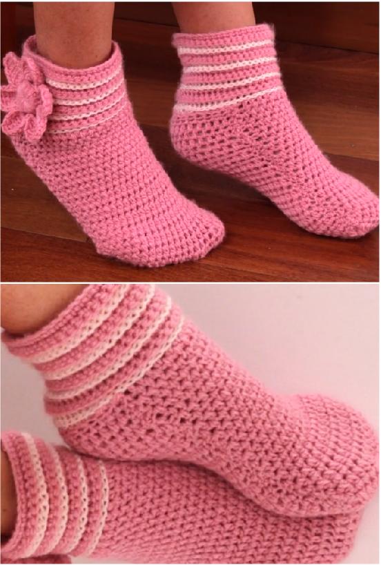 Crochet Easy Slippers For Beginners Haken Pinterest Ganchillo