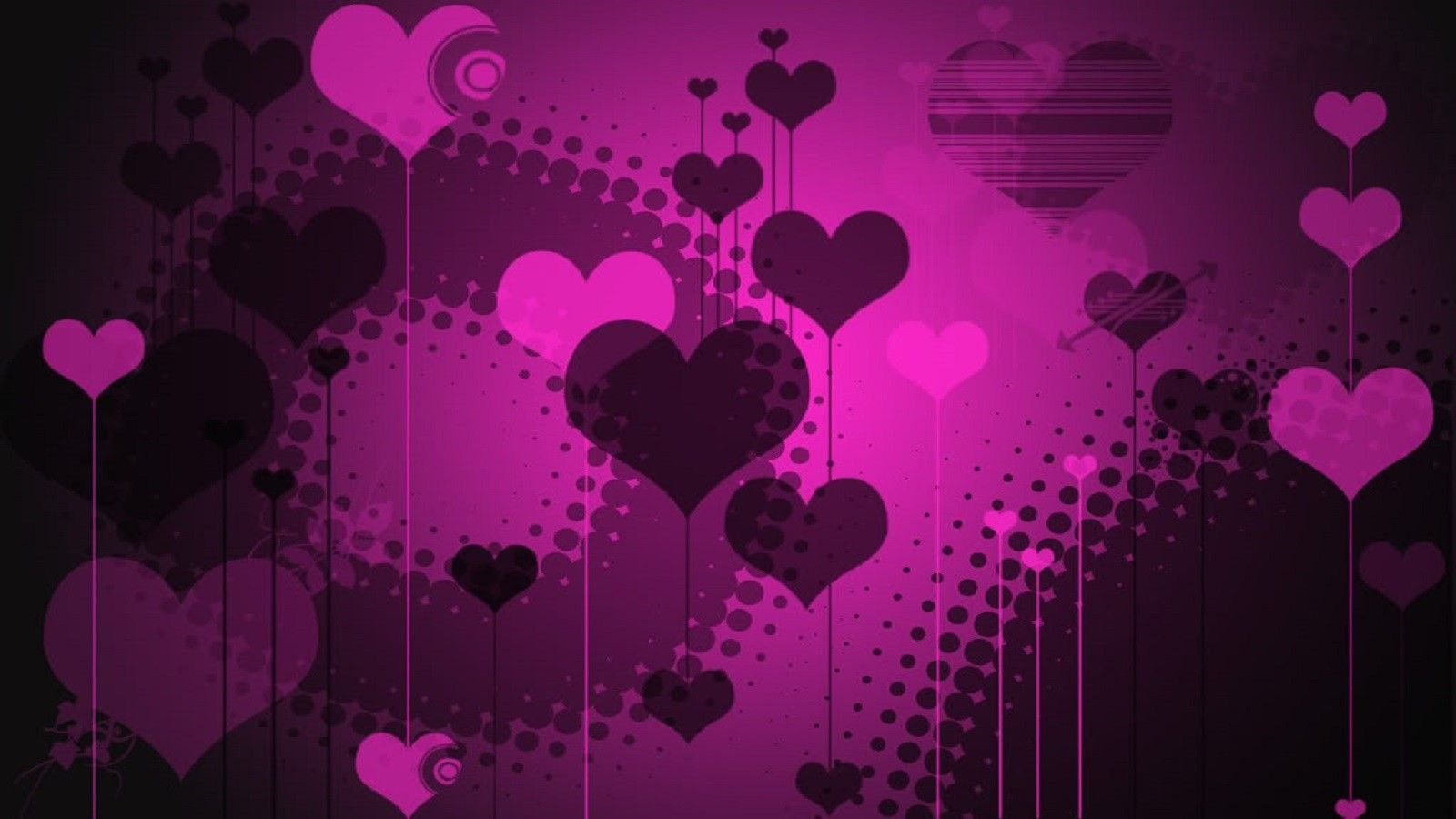 Purple And Black Hearts Wallpaper: Purple Pink Hearts ::::::::::::::: #Purple, #hearts