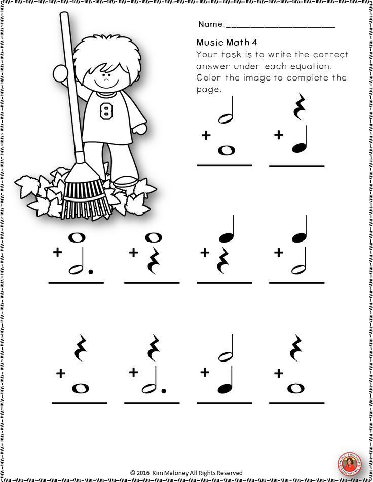 Fall Music Worksheets: 24 Music Math Activities with a FALL/AUTUMN ...