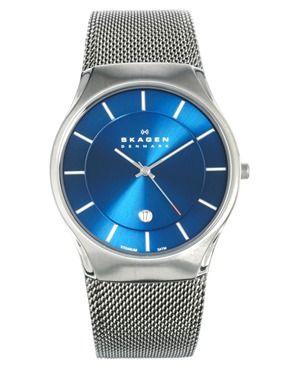 46fc1da4f40d6 Skagen Watch 956XLTTN Quartz Titanium Blue Dial   For Style ...