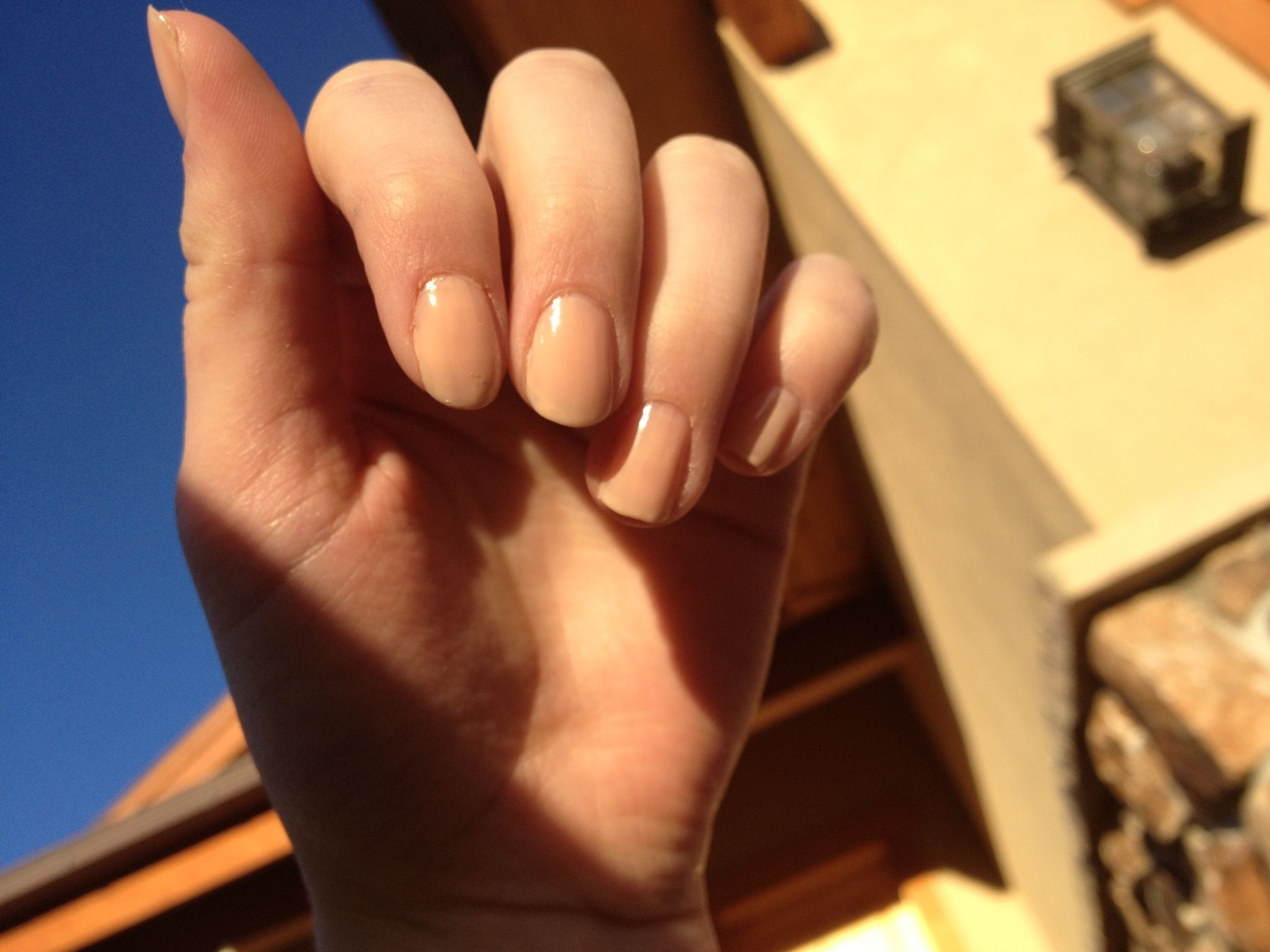 Nude nails :) @Lizzy Rosenbloom