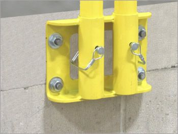 Parapet Wall Removable Fall Protection Guardrail With