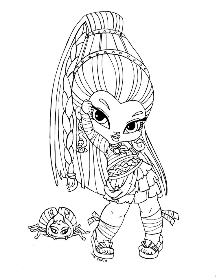 Monster high coloring pages baby cleo