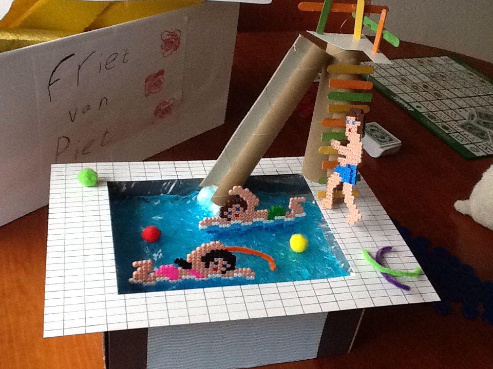 Surprise zwembad knutselen pinterest sinterklaas for Zelf zwembad maken