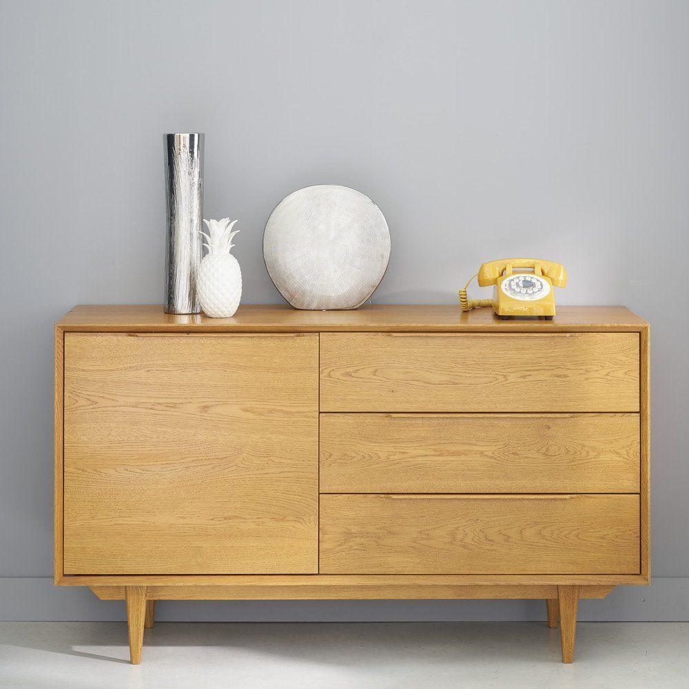 buffet scandinave portobello en ch ne massif fran ais. Black Bedroom Furniture Sets. Home Design Ideas