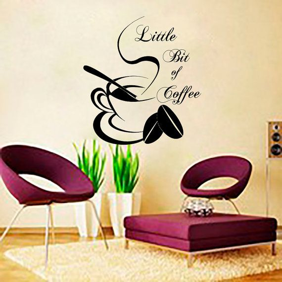 Coffee wall decals cup sticker quotes decal vinyl kitchen