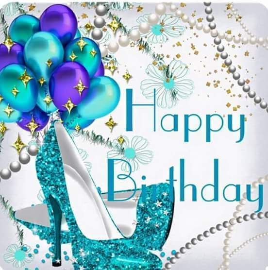 Happy Birthday Sparkle Shoes Balloons With Images Happy