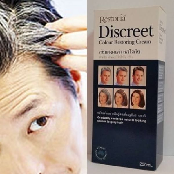 250Ml Restoria Discreet Color Restoring Cream,Grey Hair Treatment+Tracking Numbe