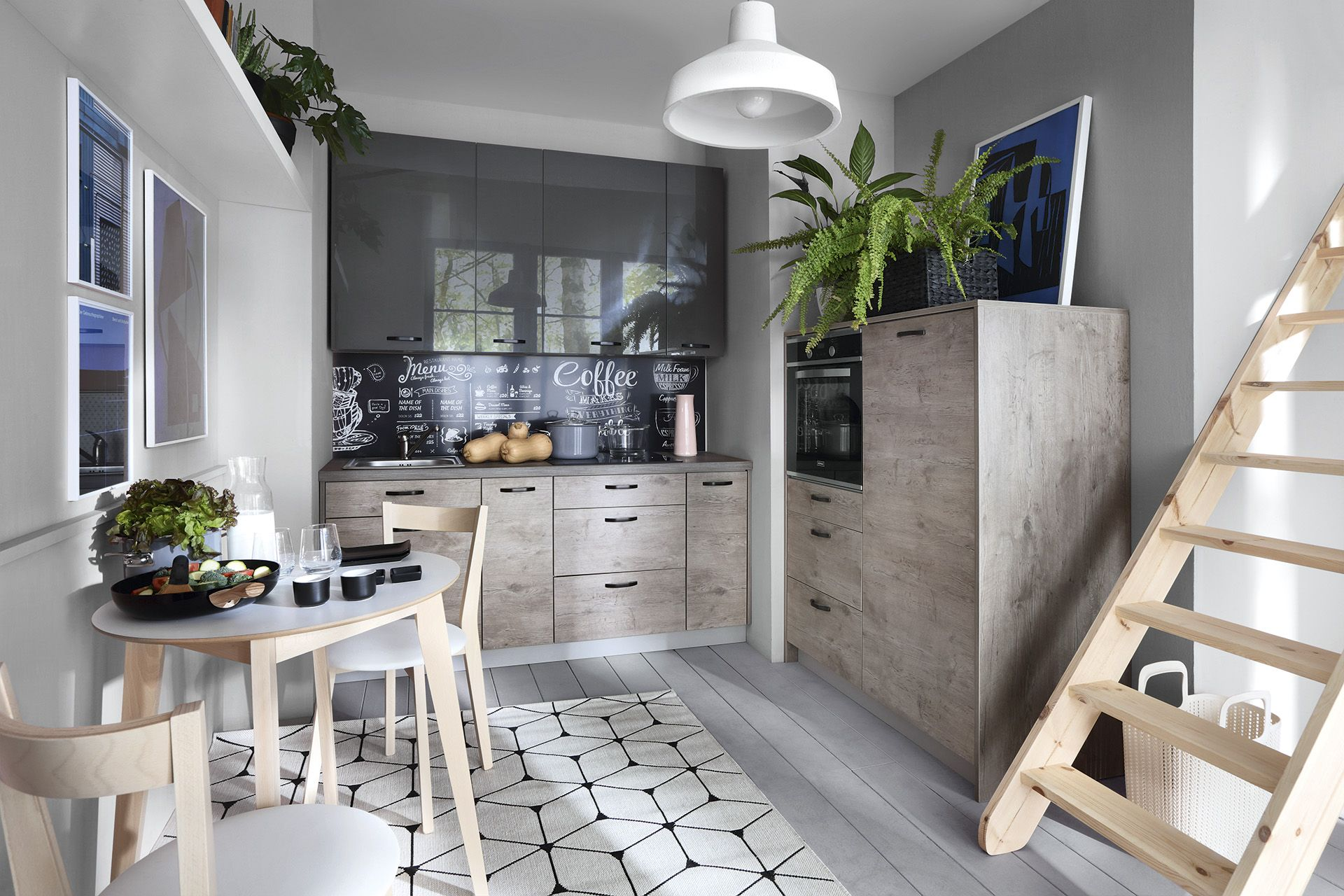Hamper Modern Kitchen Studio Kitchen Grey Oak